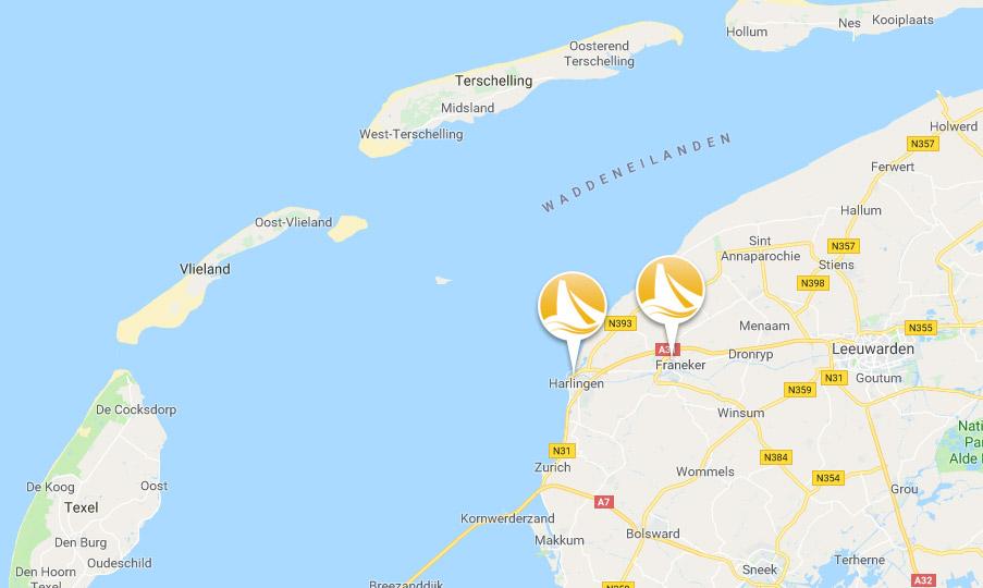 Vaargebied gouden vloot Wadden